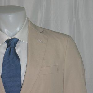 Brooks Brothers Madison Cotton Two Button Suit 38S